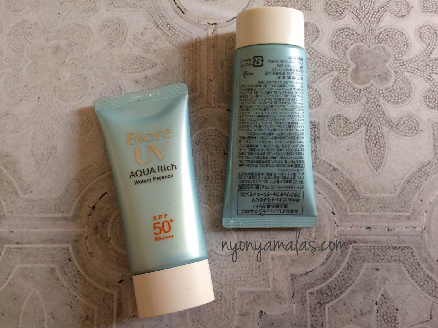 review biore uv watery essence spf 50 foto produk