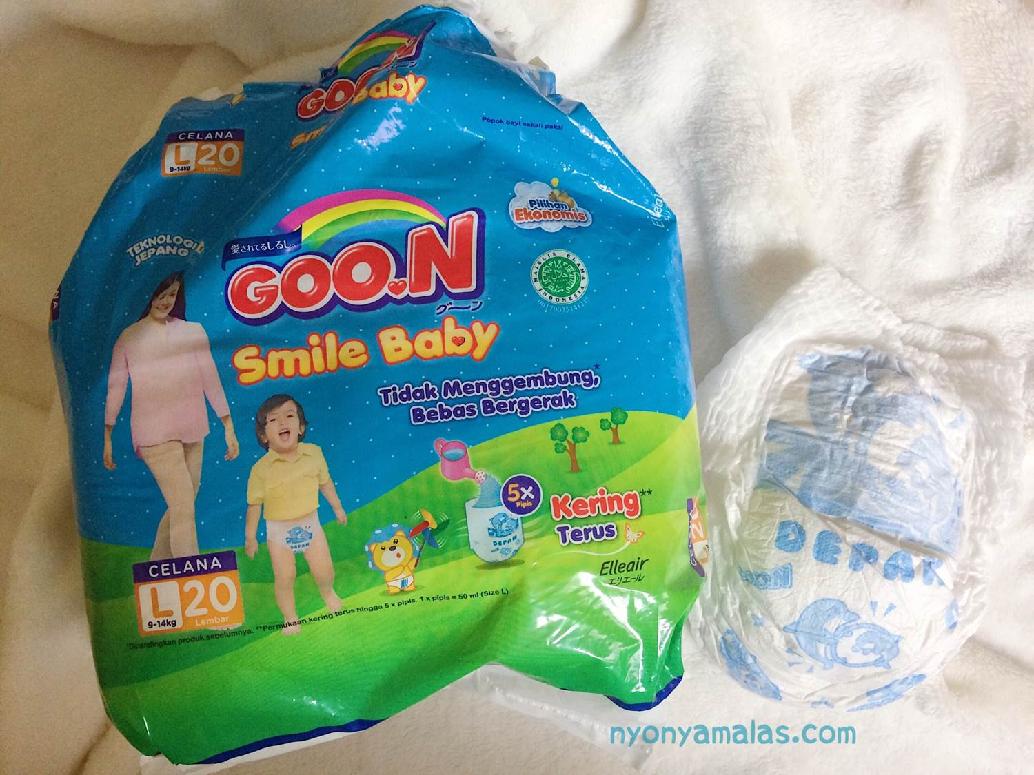 review diapers goon smile baby bungkus