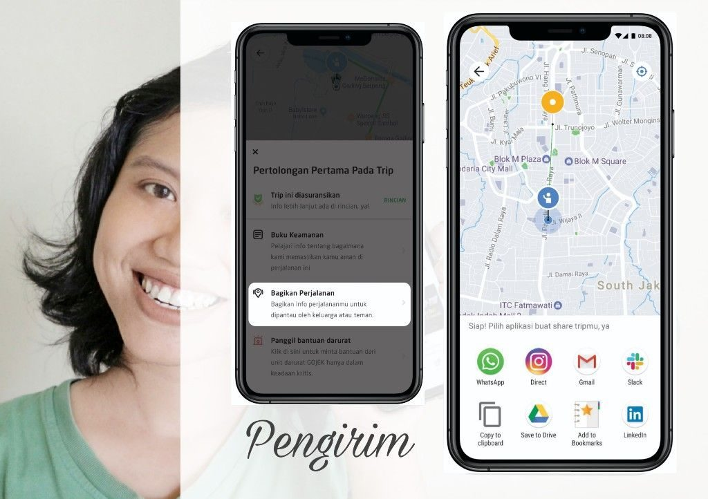 Share Location GOJEK